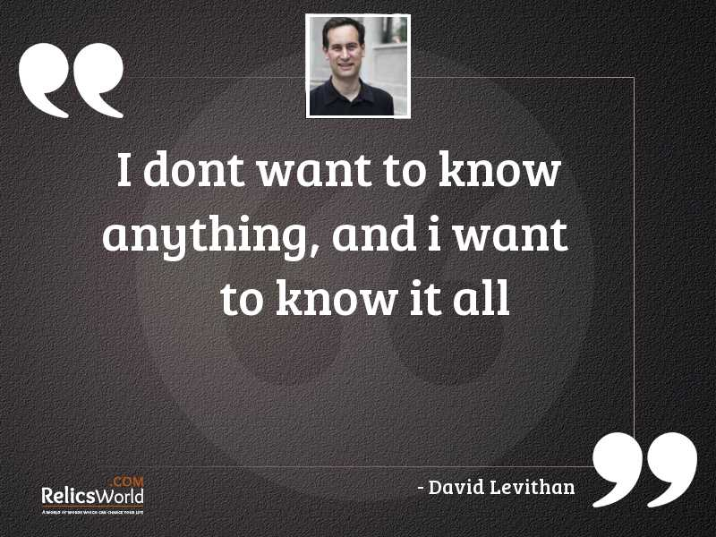 3 Know It All Quotes | RelicsWorld