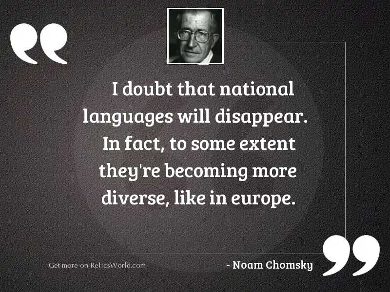 I doubt that national languages