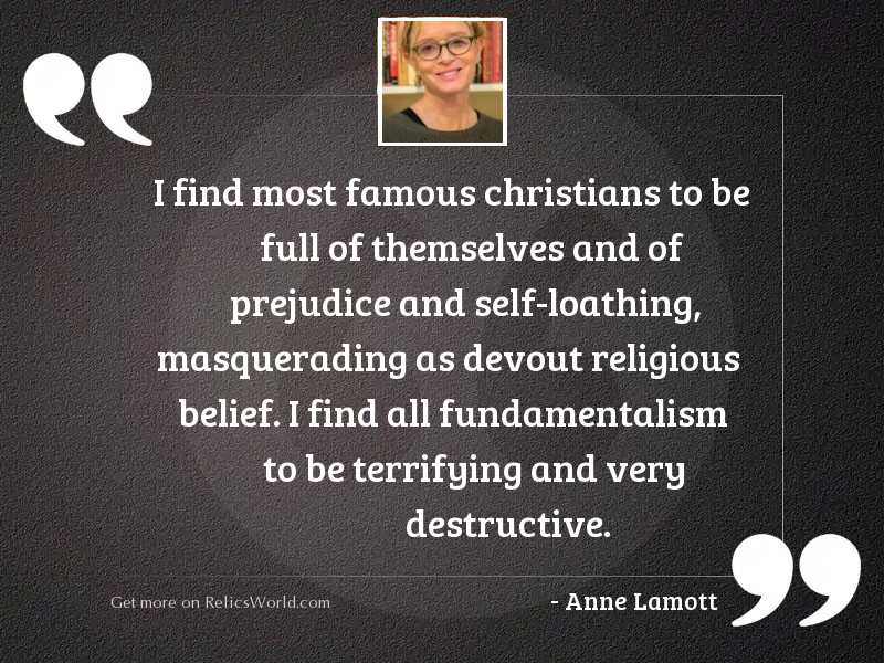 I find most famous Christians