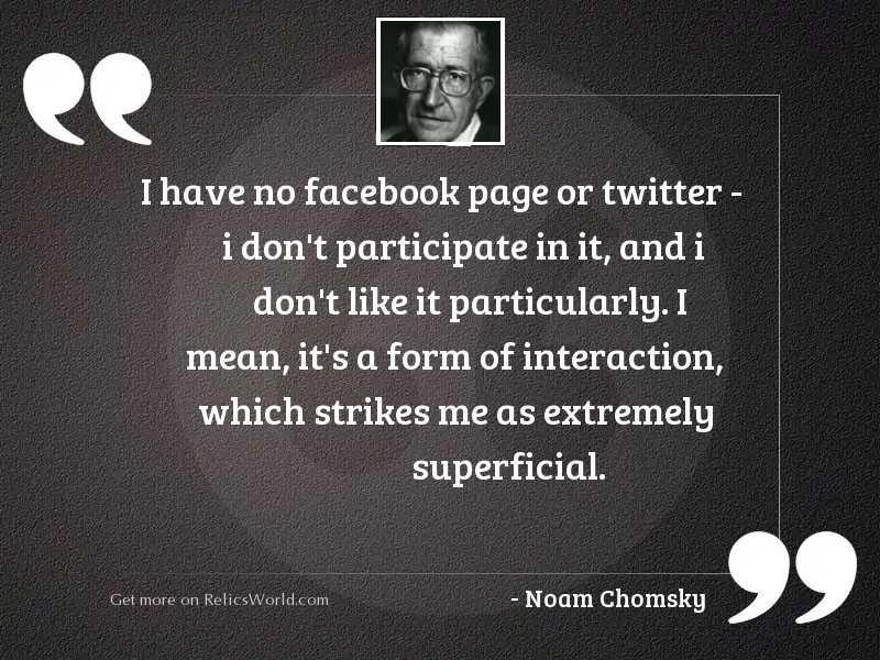 I have no Facebook page