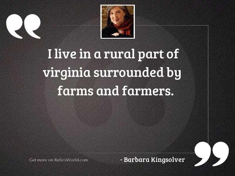 I live in a rural