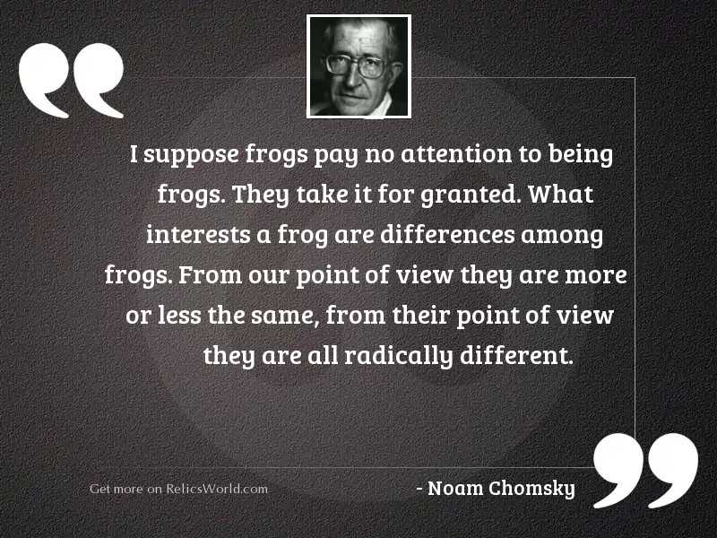 I suppose frogs pay no