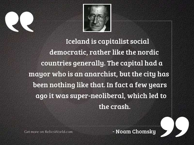 Iceland is capitalist social democratic,