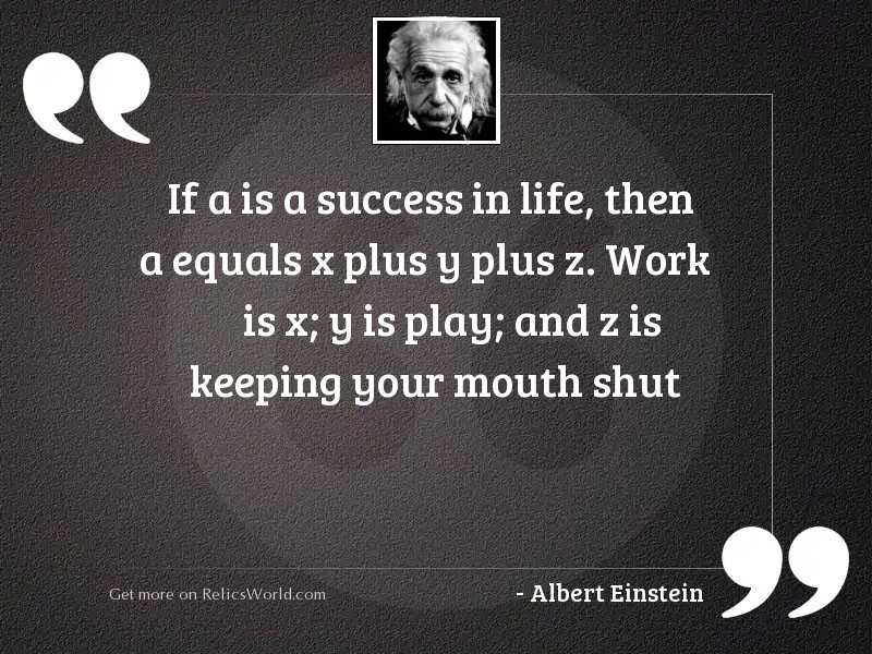 If A is a success