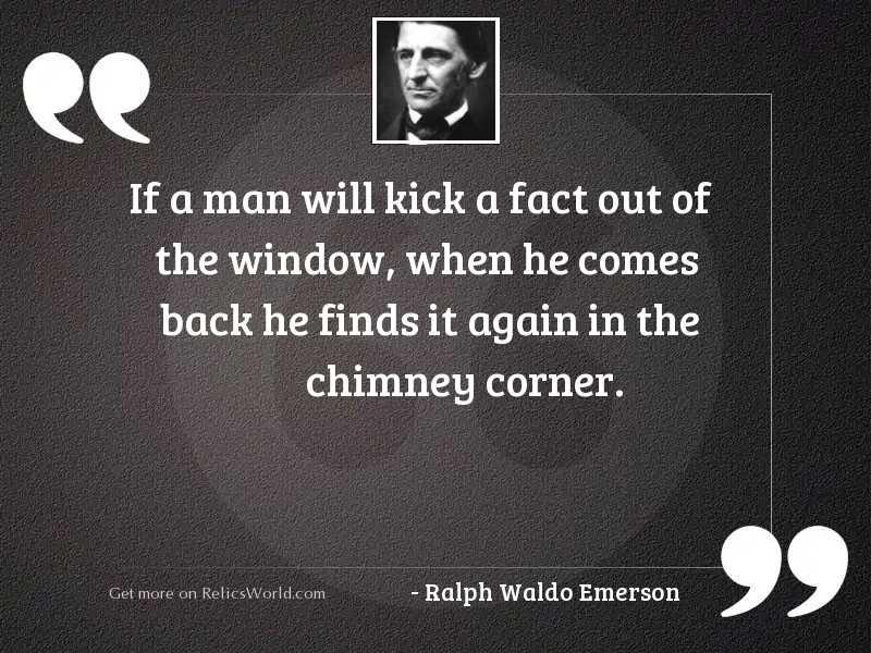 If a man will kick