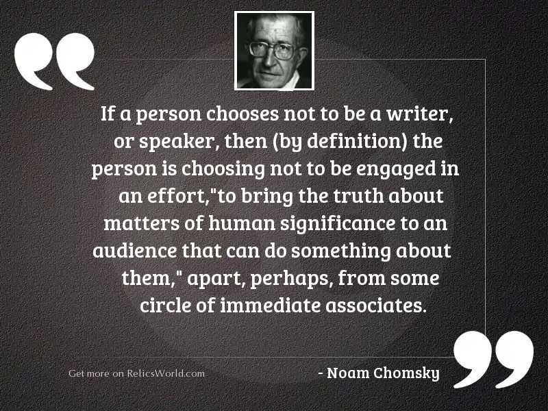 If a person chooses not