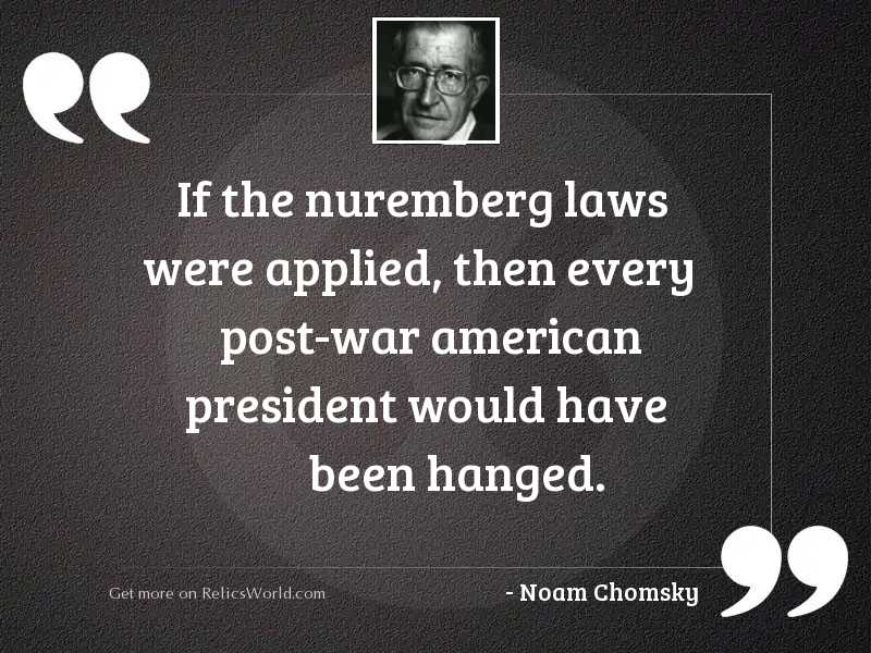 If the Nuremberg laws were