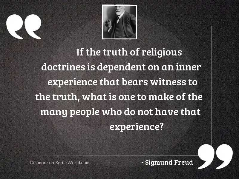 If the truth of religious