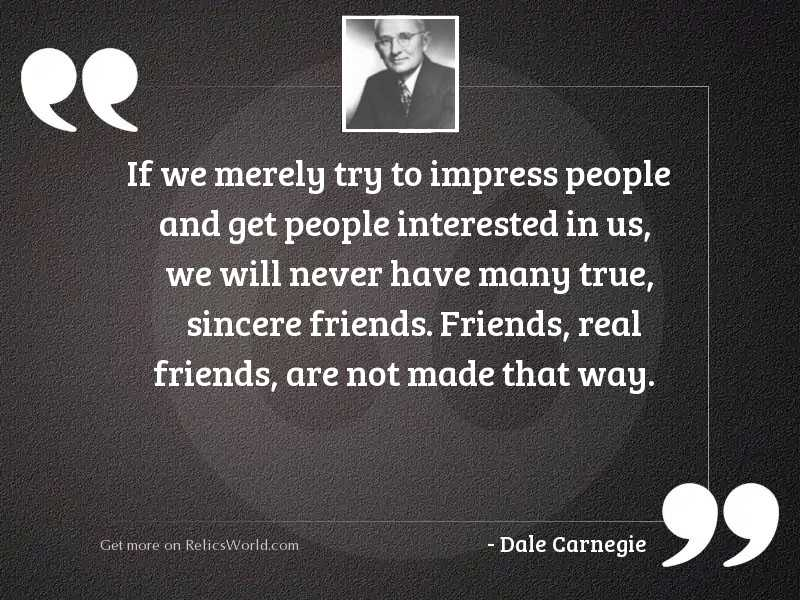 If we merely try to