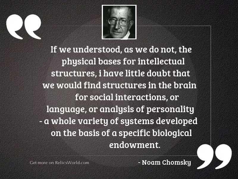 If we understood, as we