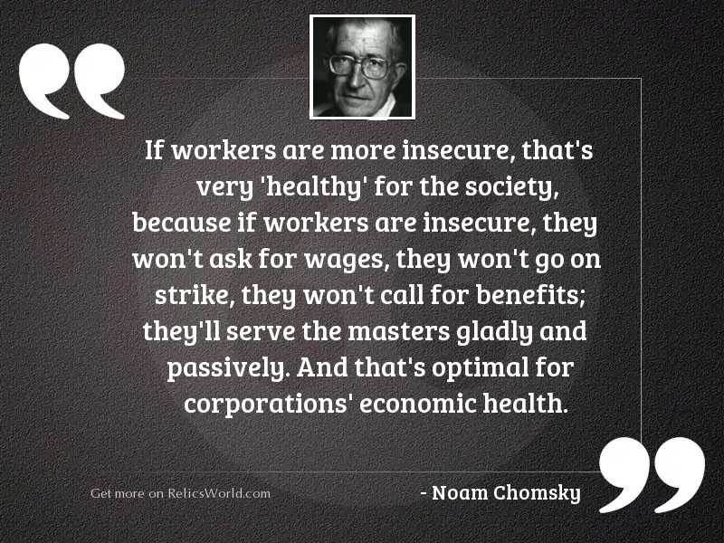 If workers are more insecure,