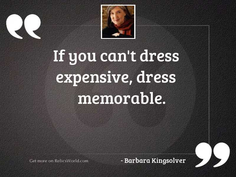 If you can't dress