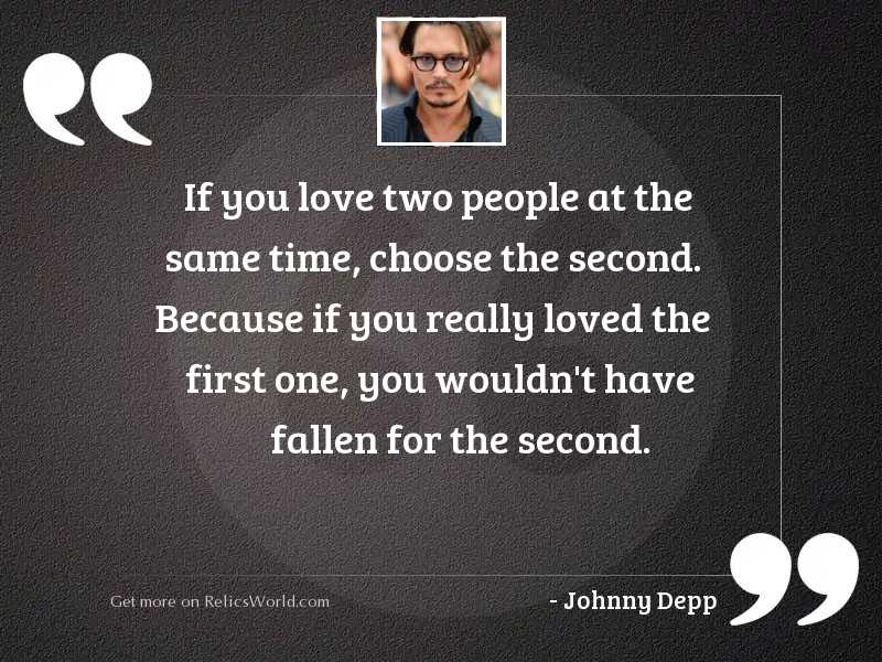 if you love two people