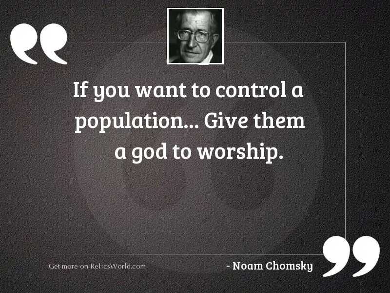 If you want to control