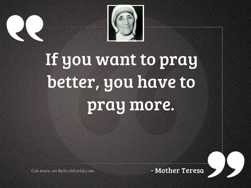 If you want to pray