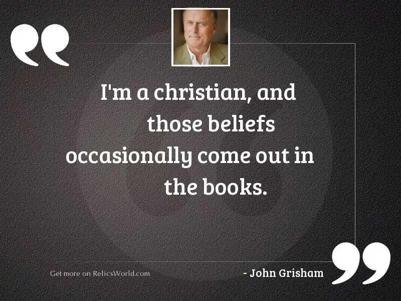 I'm a Christian, and