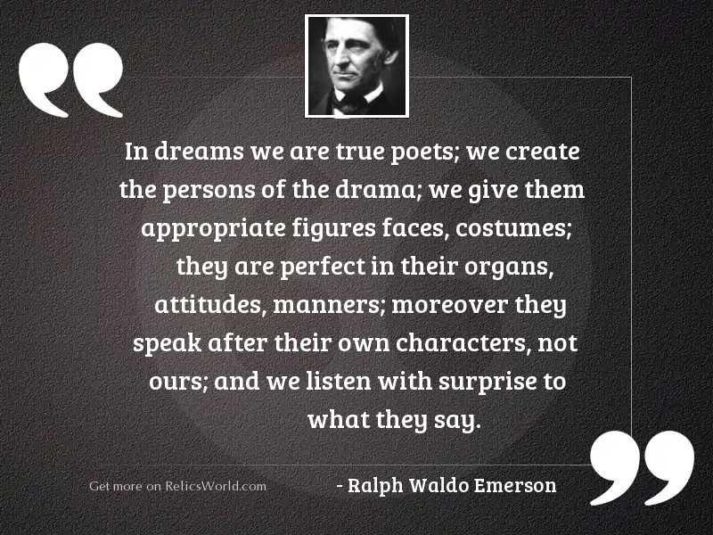 In dreams we are true