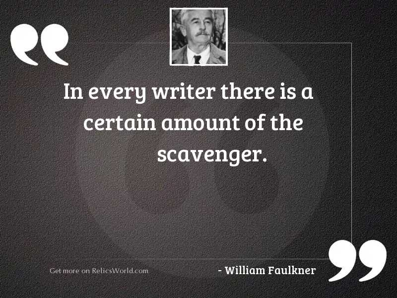 In every writer there is