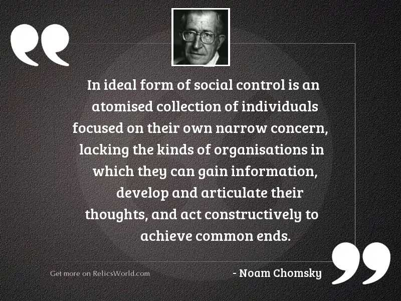 In ideal form of social