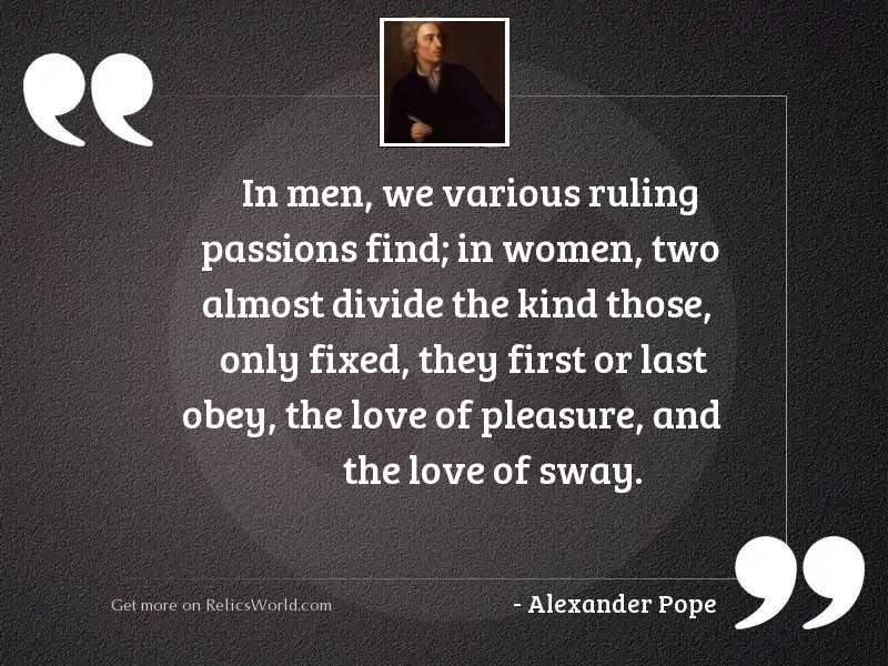 In men, we various ruling