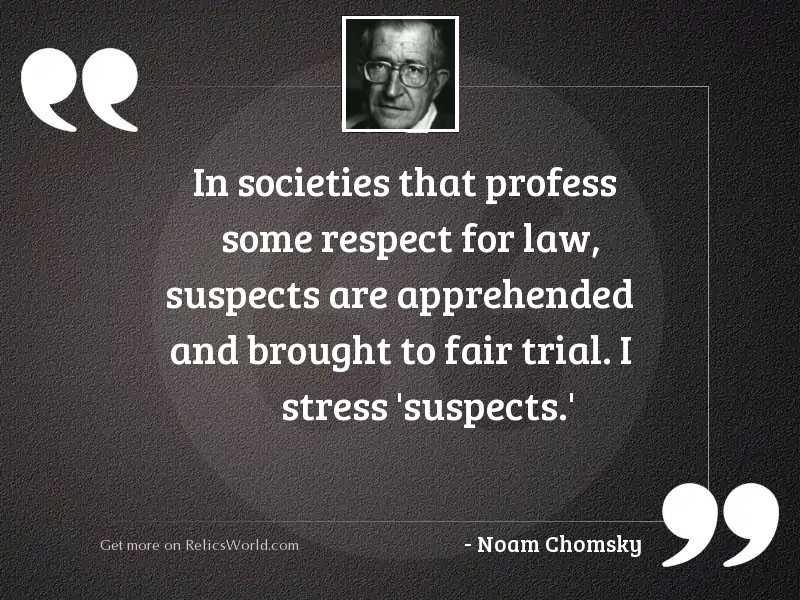 In societies that profess some