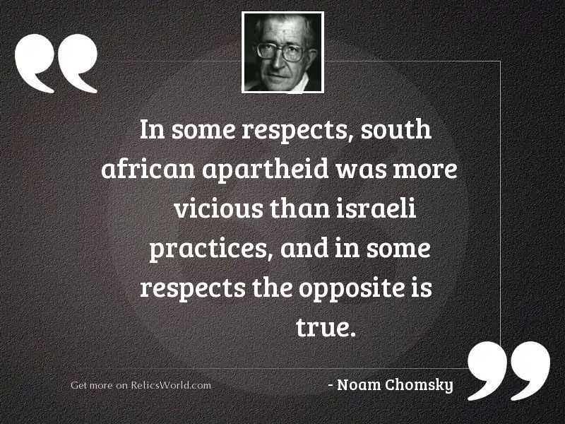 In some respects, South African