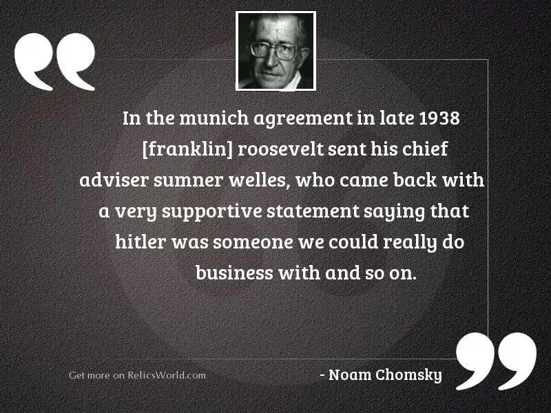 In the Munich agreement in