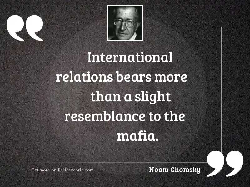 International relations bears more than