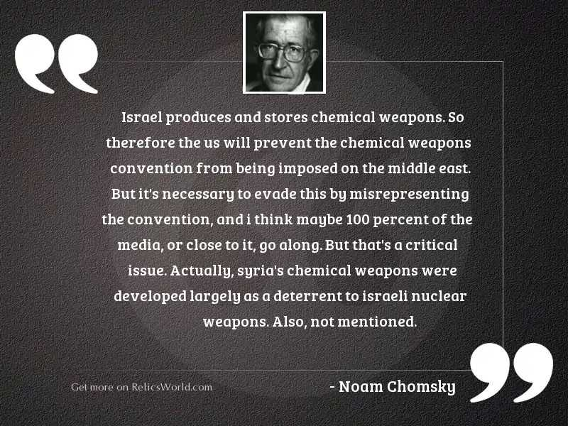 Israel produces and stores chemical
