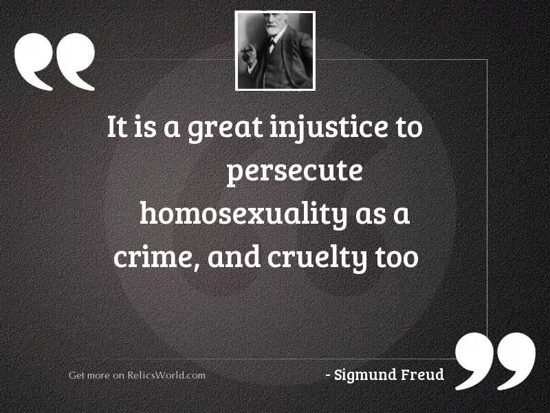 It is a great injustice