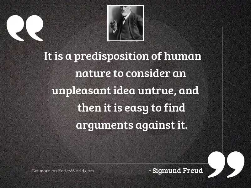 It is a predisposition of