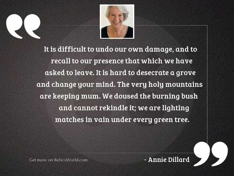 It is difficult to undo
