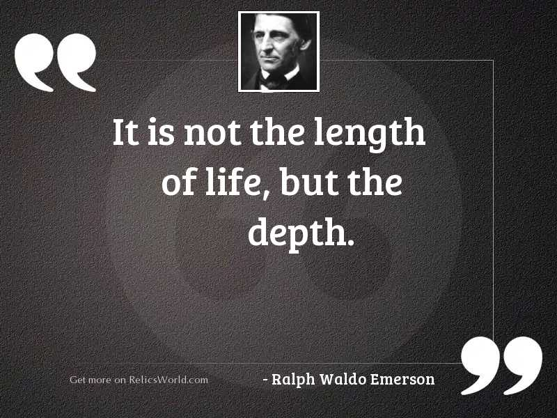 It is not the length