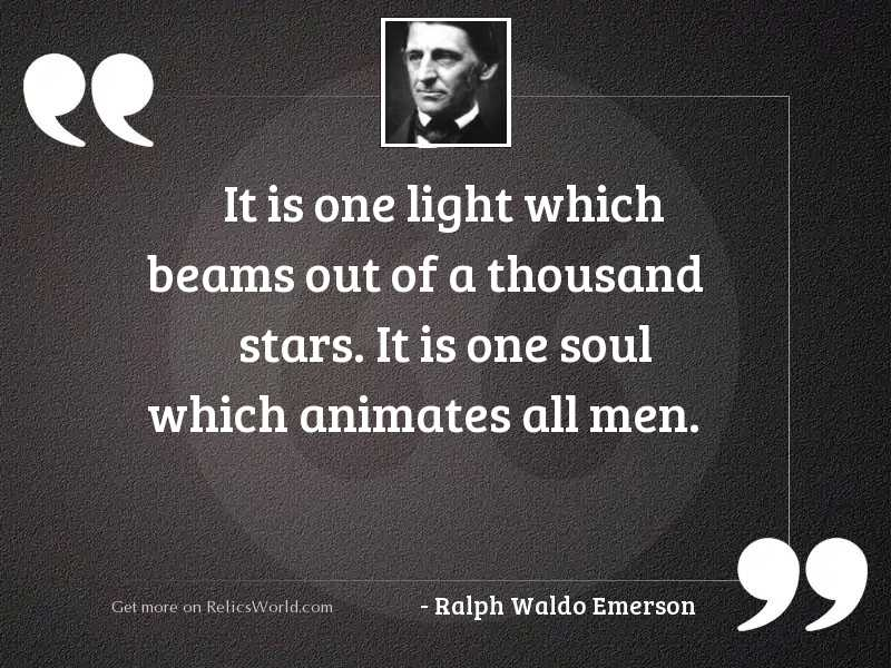 It is one light which