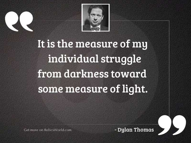 It is the measure of