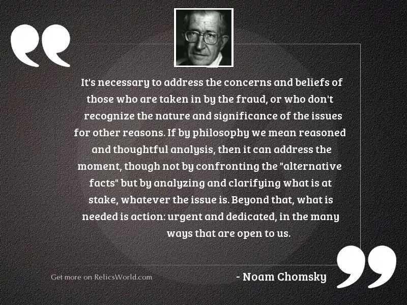 It's necessary to address