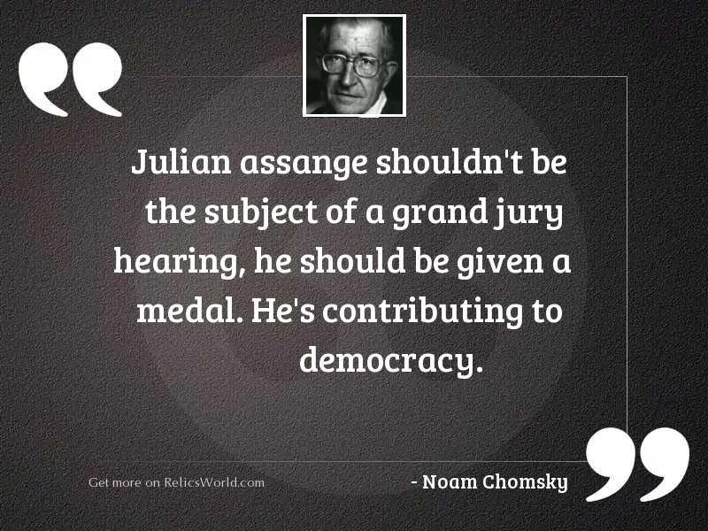 Julian Assange shouldn't be