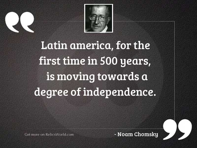 Latin America, for the first