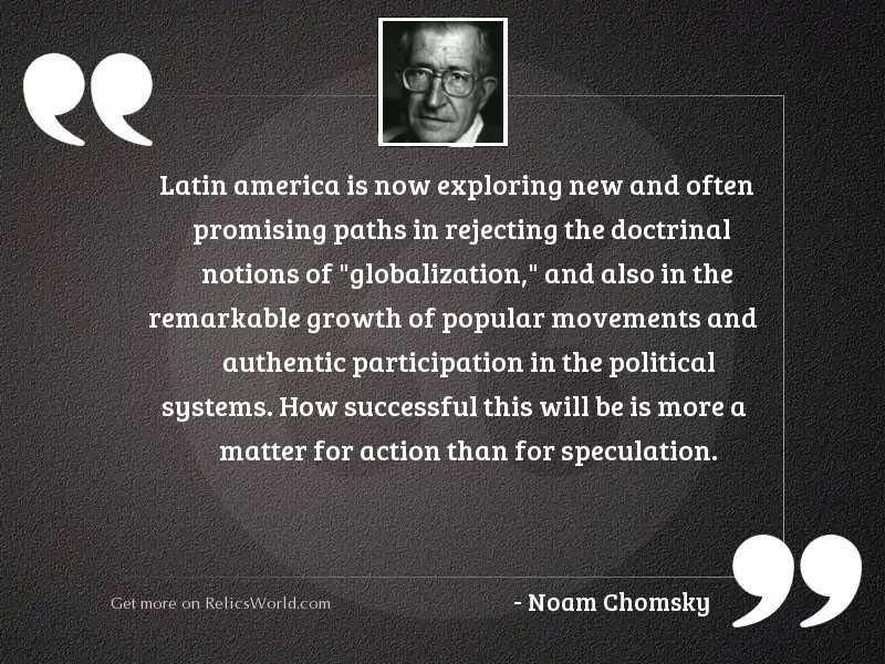 Latin America is now exploring