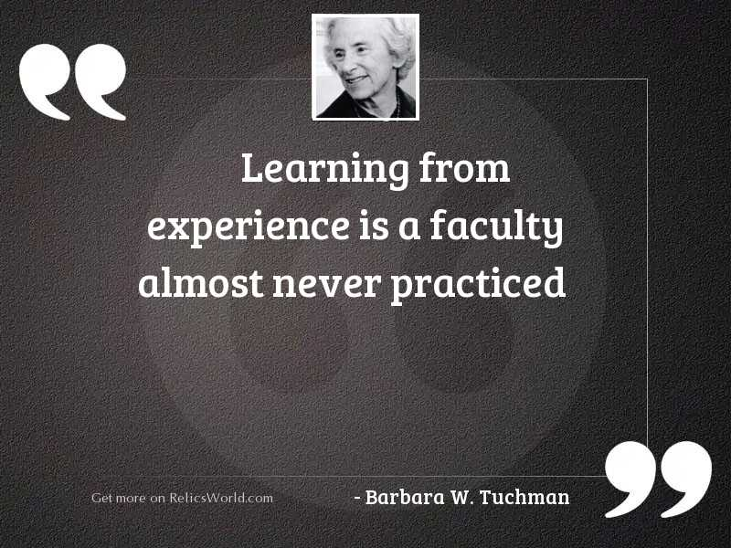 Learning from experience is a