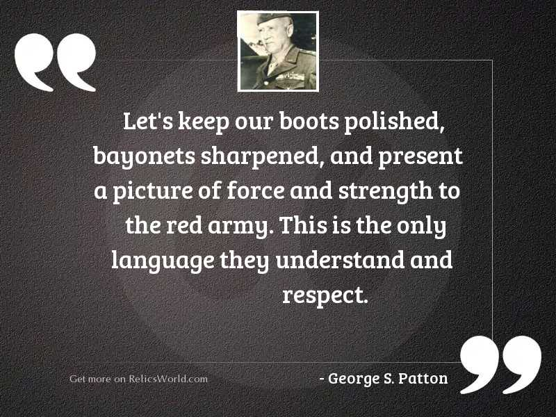Let's keep our boots