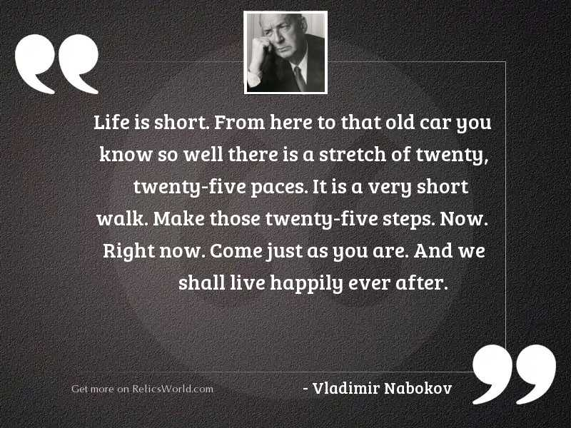 Life is short. From here