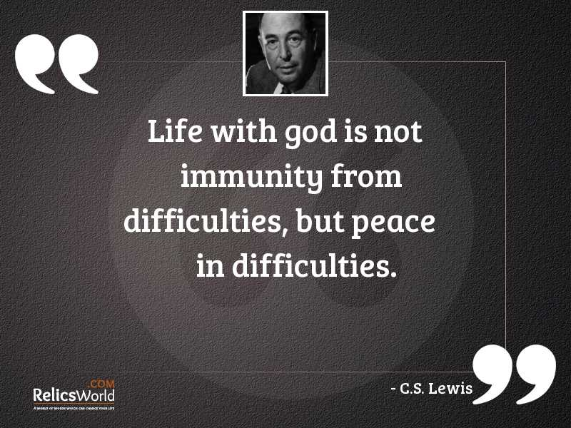 Life with God is not