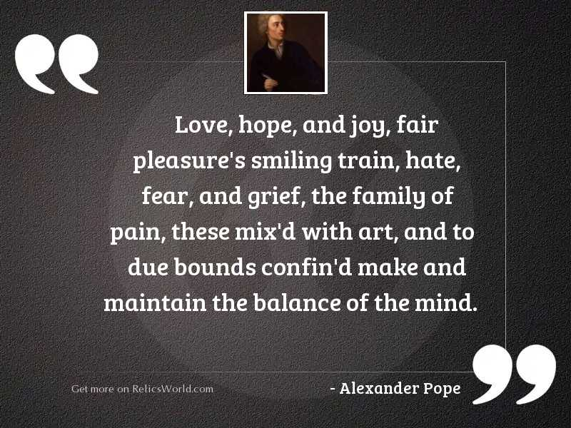 Love, Hope, and Joy, fair