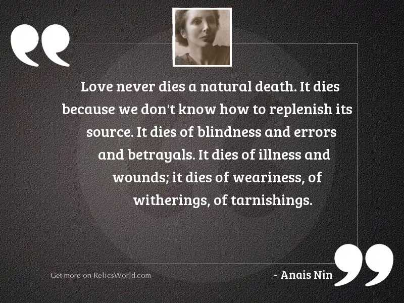 Love never dies a natural