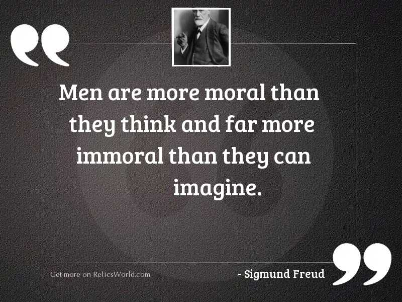 Men are more moral than