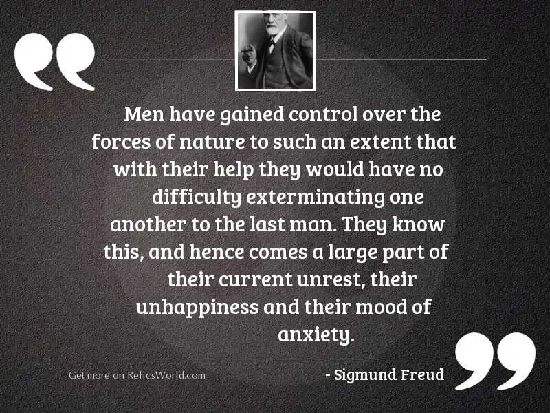 Men have gained control over