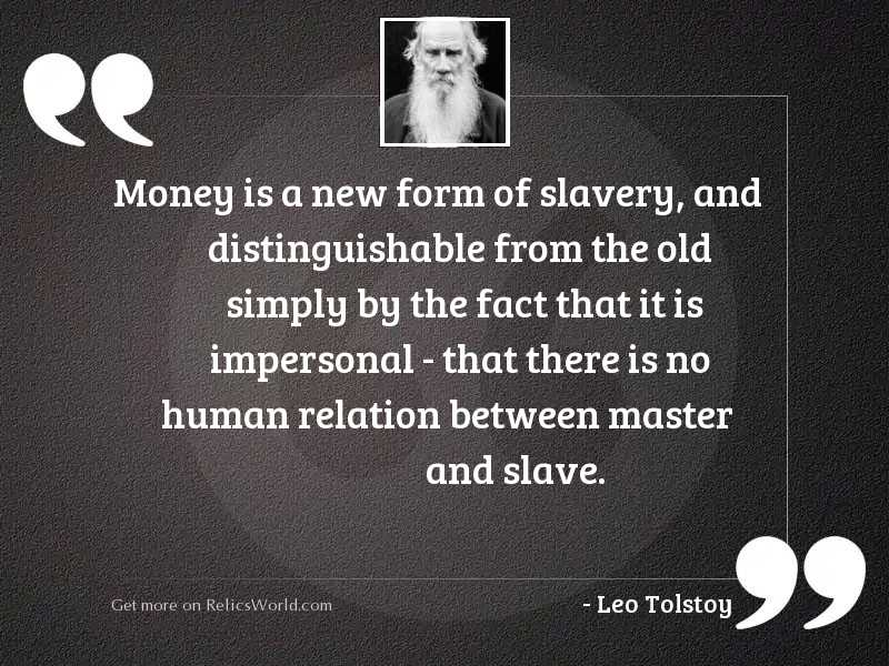 Money is a new form