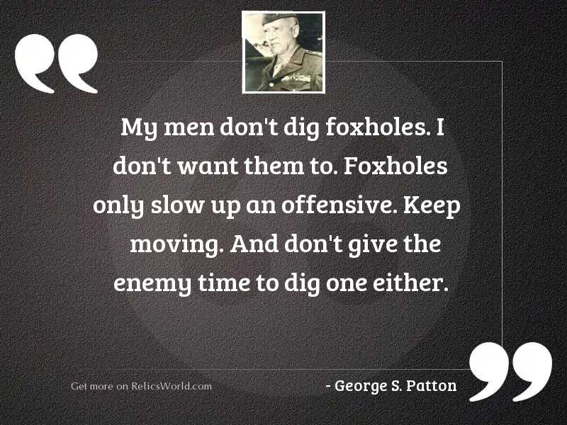 My men don't dig