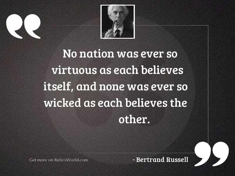 No nation was ever so